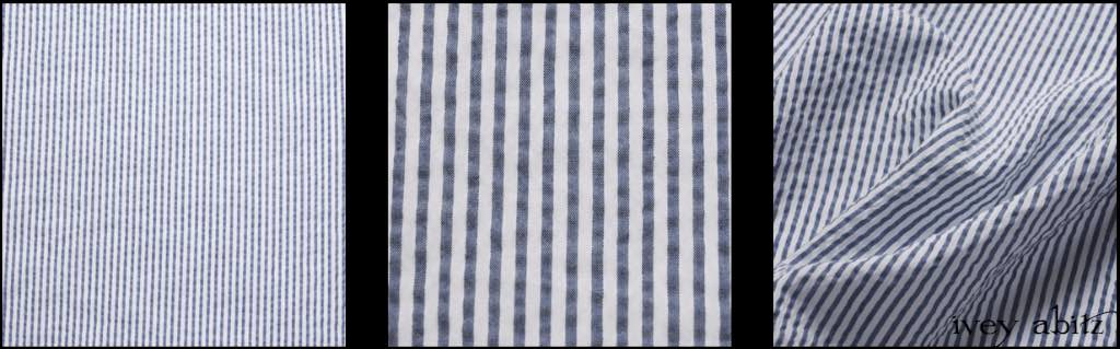 Onward Blue Puckered Striped Weave