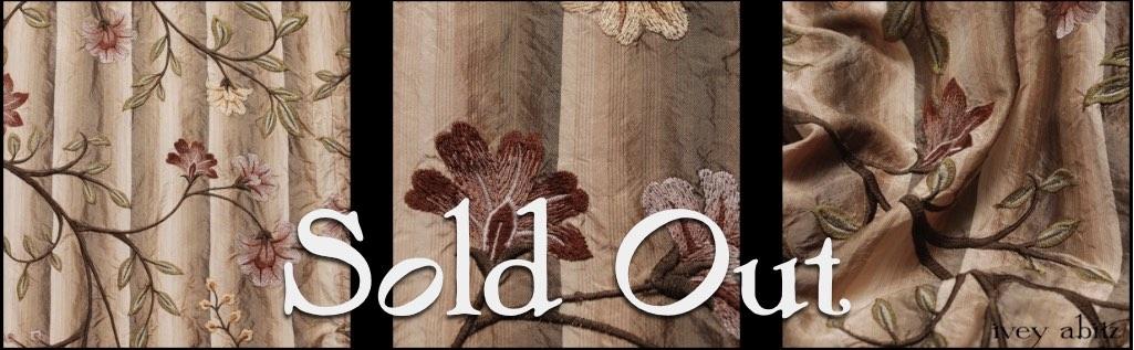 Original Plaster Embroidered Washed Silk