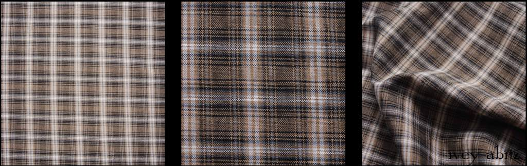 Parchment and Ink Plaid Weave