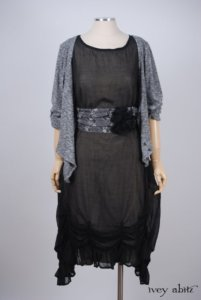 Clemmie Frock in Black Wispy Silk Voile – Size Medium 2