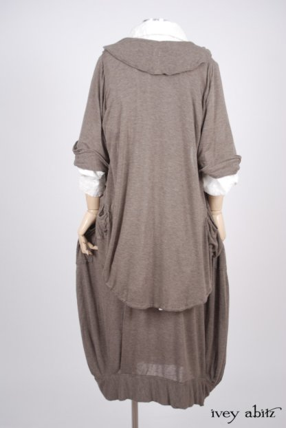 Coulson Frock  in Flaxseed Featherlight Knit - Size Medium