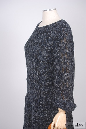 Dennison Dress in Dusk Wool Lace Knit - Size Small/Medium