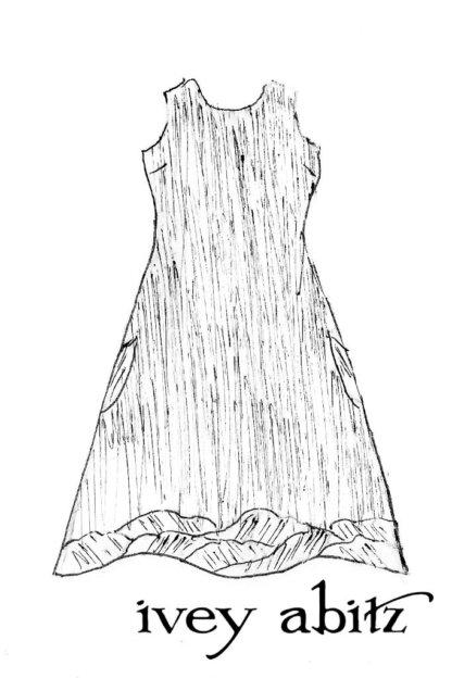 Grasmere Frock in Shoreline Gingham Crushed Weave - Size Large