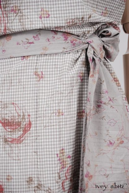 Grasmere Frock in Shoreline Gingham Crushed Weave - Size Medium/Large