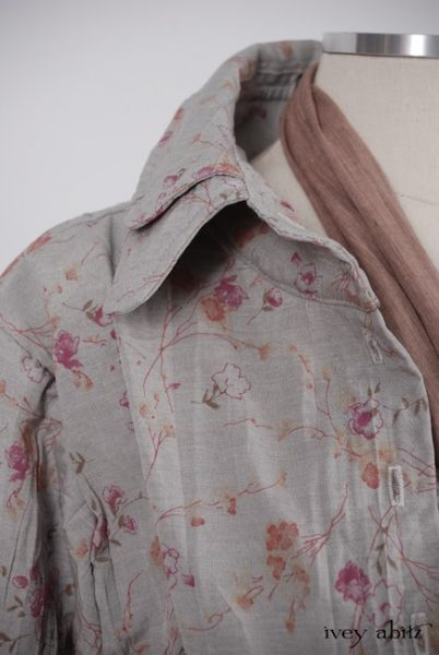 Inglenook Shirt Jacket  in Shoreline Sprig Crushed Weave - Size Medium