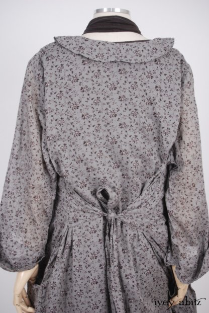 Arthur Hill Jacket in Feather Brown Floral Cotton Voile - Size Medium