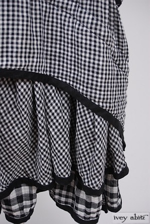 Limited Edition Everett Frock in Black Checked Gauze - Size Small