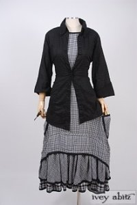 Limited Edition Everett Frock in Black Checked Gauze – Size Small 6