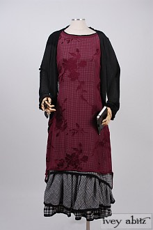 Limited Edition Wildefield Frock in Rose Silhouette Silk Chiffon - Size Large