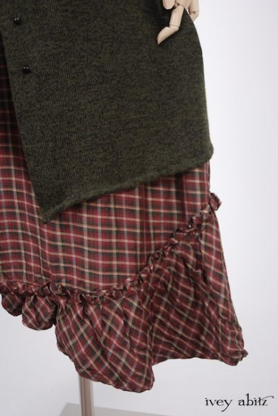 Tilbrook Frock  in Peony Washed Plaid Silk  - Size Medium