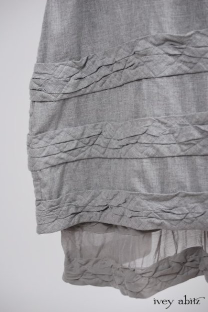 Tollie Frock in Sparrow Grey Wispy Silk Voile - Size Medium