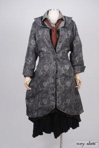 Truitt Duster Coat in Inkwell Cotton Brocade – Size Small/Medium 7
