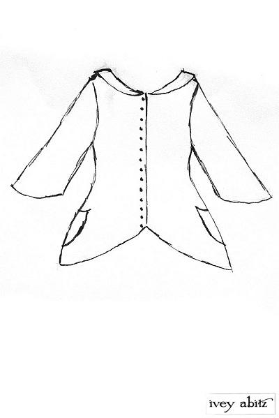 Truitt Jacket in Elsie Grey Wool Knit  - Size Medium