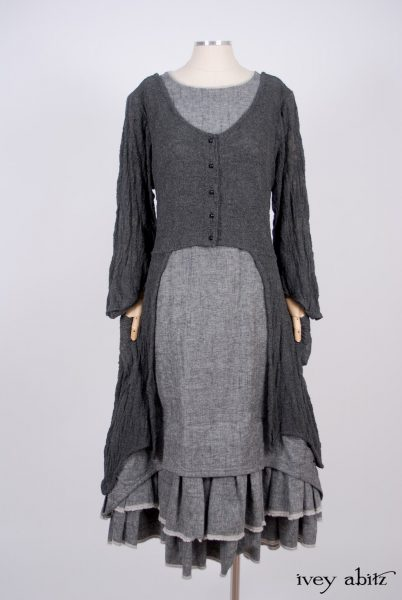 Limited Edition Trelawny Frock in Blackbird Dove Rustic Weave - Size Small Medium