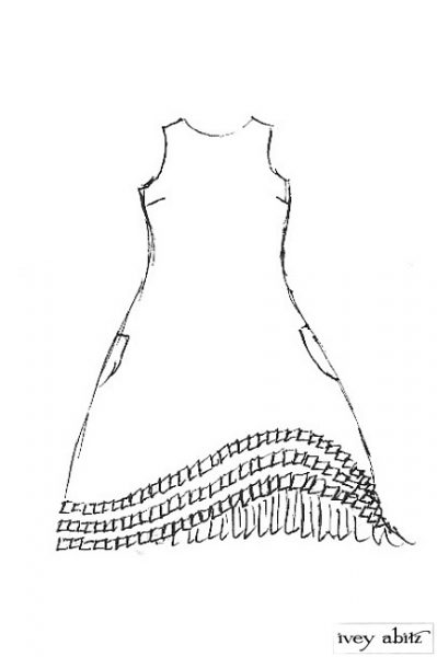 Windrush Frock in Parchment Dot Cotton - Size Medium