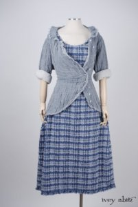 Limited Edition Covante Frock in Lake Tufted Voile – Size Extra-Large 1