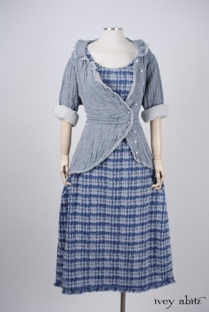 Limited Edition Covante Frock in Lake Tufted Voile - Size Extra-Large