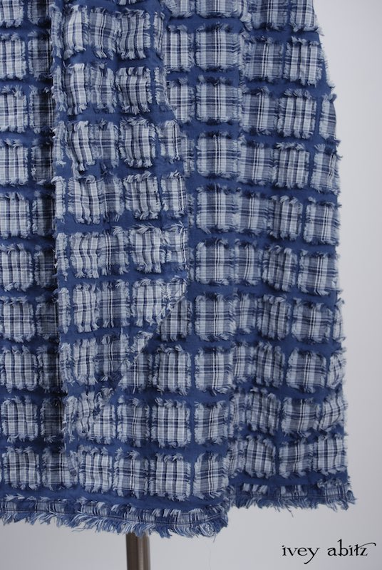 Limited Edition Covante Frock in Lake Tufted Plaid Voile - Size Small