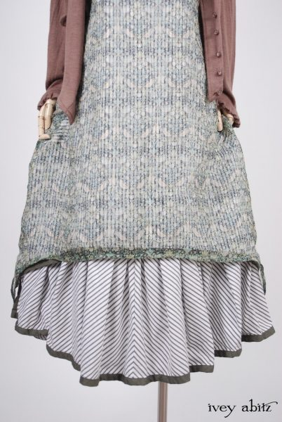 Limited Edition Blanchefleur Frock in Morning Meadow Striped Cotton - Size Medium