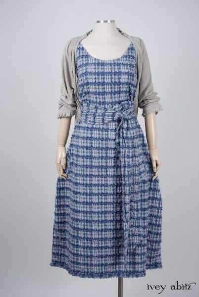 Limited Edition Covante Frock in Lake Tufted Plaid Voile - Size Medium
