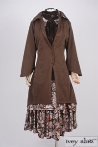 Elsie Duster Coat in Fawnwood Softest Cotton Twill – Size Medium 5