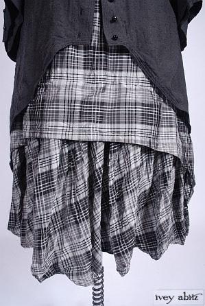 Blanchefleur Frock in Chimney Sweep Plaid Silk Taffeta - Size Medium/Large