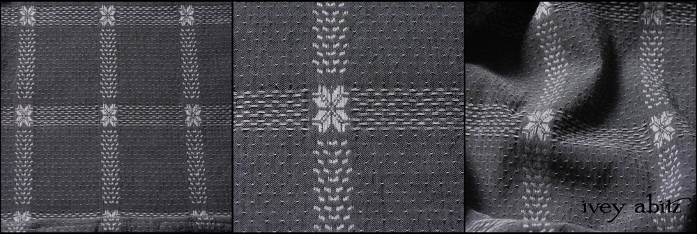 Silvery Moon Embroidered Spring Weave