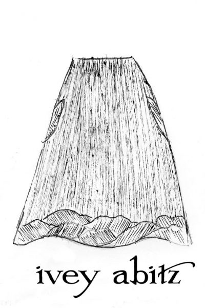 Grasmere Skirt Drawing by Ivey Abitz