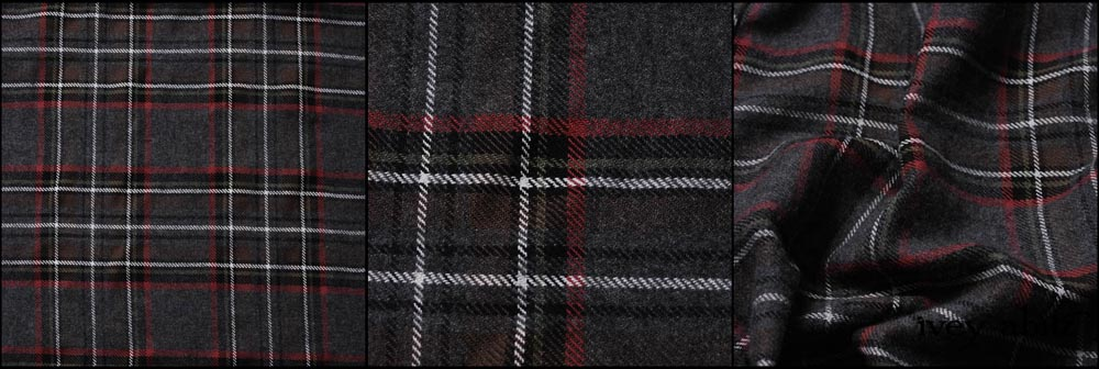 Springrose Plaid Weave - Description: My goodness, where do we begin with this playful plaid? It has quite a presence without screaming PLAID. The dominant hue is Springrose, but look more closely, and you'll see other hues that will connect to other garments in your Ivey Abitz wardrobe. A little black, a little green, a little white, a little brown. They are all cleverly woven (not printed) together in this lovely twill weave. Opaque but not heavy. It's a lovely weight for all climates and the upcoming spring season. Content: A very, very soft wool and cotton mix from France. Care: Simply hand wash or put through machine delicate cycle in cold water with a plant based detergent. We suggest using a natural fabric softener to maintain the softness we have washed into it. Tumble dry on extra-low heat with our artisan wool dryer balls to keep the relaxed effect that is featured in the Look Book.