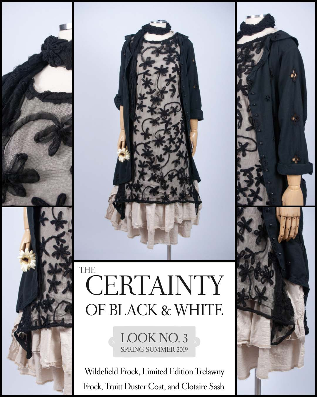 Certainty of Black and White. Spring ushers in a feeling of newness, though it is familiar and happens every year. We can always count on a new season. Such dependability comes in shades of black and white, giving us a sense of certainty no other hues can—especially in these easy fitting design and fabric combinations.
