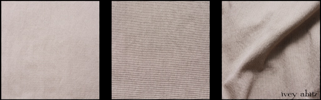 Stone Cottage Stretchy Houndstooth - Description: Opaque but lightweight enough to enjoy well into the summer months. A smart houndstooth that is put through special washings to bring out the texture and softness in the weave. A mix of our Stone Cottage and Clapboard White hues.