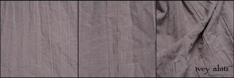 Taupe Rose Crinkled Weave