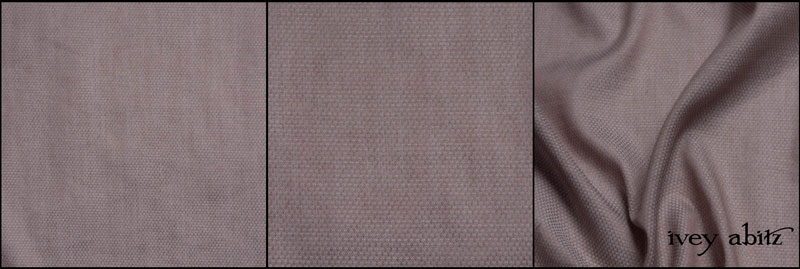 Taupe Rose Jacquard Voile