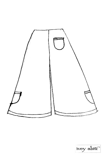 Montague Trousers drawing by Ivey Abitz