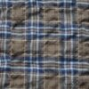 Ivey Abitz - Veranda Blue Lawn Wispy Plaid - Description: We love a good plaid. This one has it all. Yarn dyed muted loveliness, puckering in the plaid, softness against the skin. It is very lightweight, yet it's still opaque. An ideal choice for a base layering frock or whimsical everyday shirt.