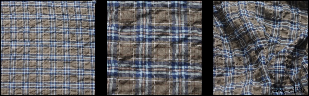 Veranda Blue Lawn Wispy Plaid - Description: We love a good plaid. This one has it all. Yarn dyed muted loveliness, puckering in the plaid, softness against the skin. It is very lightweight, yet it's still opaque. An ideal choice for a base layering frock or whimsical everyday shirt.
