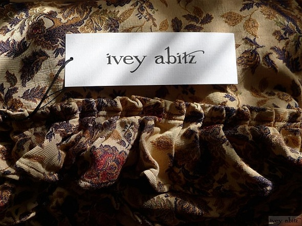 Fennfleur Frock in Limited Edition Floral Brocade by Ivey Abitz.